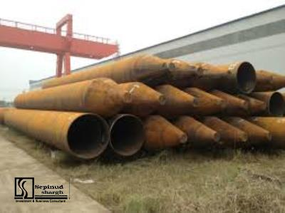 Technical, Financial Feasibility study of producing steel piles, steel deck and EPS