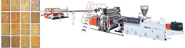 خط تولید دیوارپوش با پایه کربنات کلسیم و پی وی سی PVC Free Foaming Extrusion Line