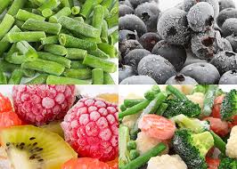 freezed fruits and vegetables